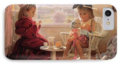 Tea Party Paintings iPhone Cases