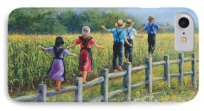 Amish Family iPhone Cases