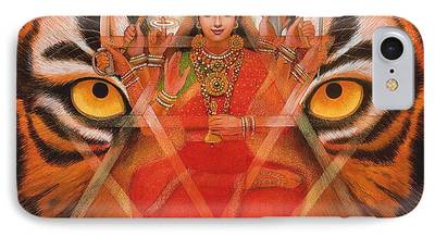 Hindu Goddess Paintings iPhone Cases