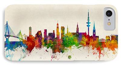 Hamburg Digital Art iPhone Cases