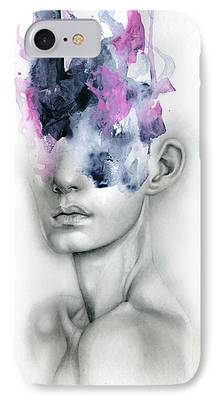 Abstract Face iPhone Cases