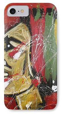 Puck Paintings iPhone Cases