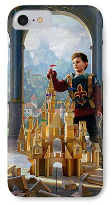 Knights Castle Paintings iPhone Cases
