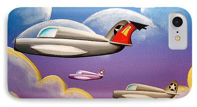 Flight Paintings iPhone Cases