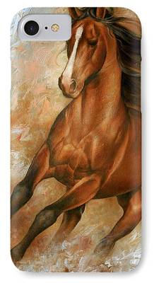 Wild Horse Paintings iPhone Cases