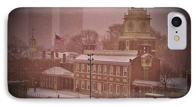 Declaration Of Independance Digital Art iPhone Cases