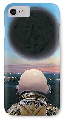 Black Hole Paintings iPhone Cases