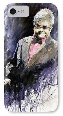 Elton John Paintings iPhone Cases