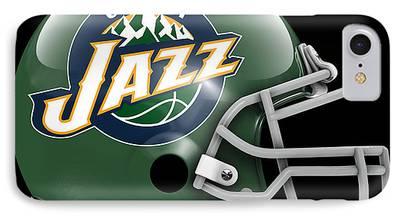 Utah Jazz Paintings iPhone Cases