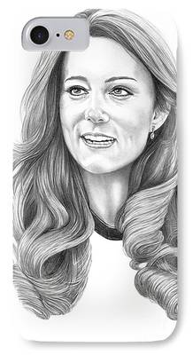 Kate Middleton Drawings iPhone Cases