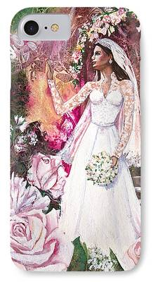 Kate Middleton Mixed Media iPhone Cases
