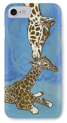 Giraffe Abstract iPhone Cases