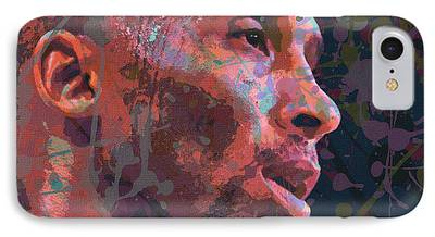 Kobe Bryant Abstract Paintings iPhone Cases