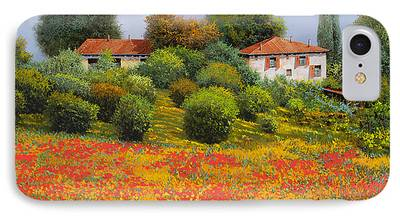 Farm Fields Paintings iPhone Cases