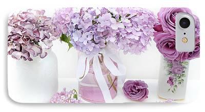 Purple Hydrangea iPhone Cases