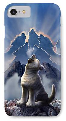 Canines Digital Art iPhone Cases