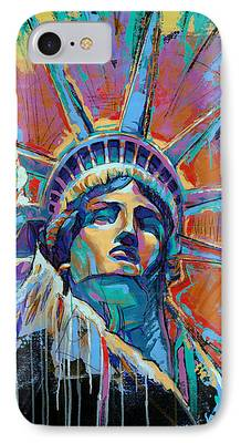 Liberty Paintings iPhone Cases