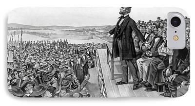Gettysburg Address Mixed Media iPhone Cases