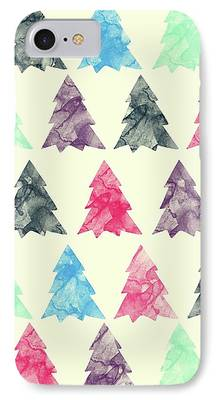 Pines Drawings iPhone Cases