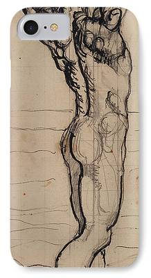 Male Nude Drawing Drawings iPhone Cases