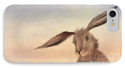 Rabbit Digital Art iPhone Cases