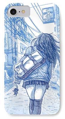 Shibuya Drawings iPhone Cases
