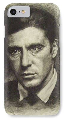 Michael Corleone Drawings iPhone Cases