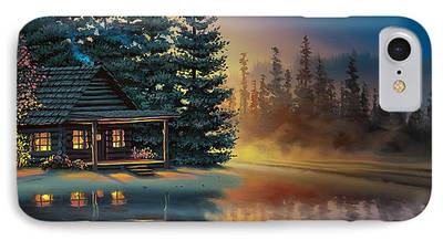 Cabin Paintings iPhone Cases