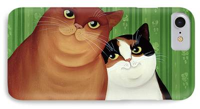 House Pet Paintings iPhone Cases