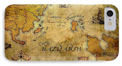 Brett Pfister Nazdarth Map Epic Amazing Colors Landscape Digital Modern iPhone Cases