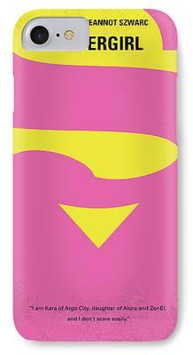 Supergirl Digital Art iPhone Cases