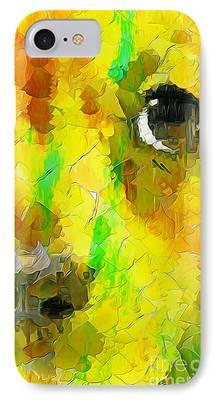 Mixed Labrador Retriever Digital Art iPhone Cases