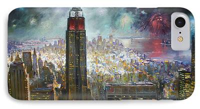 Big Apple Paintings iPhone Cases