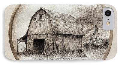 Barns Drawings iPhone Cases