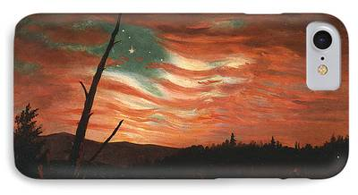 Patriotism Paintings iPhone Cases