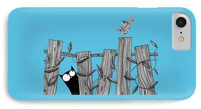 Fence Drawings iPhone Cases