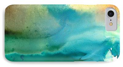 Abstract Seascape Paintings iPhone Cases