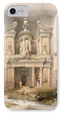 Petra Paintings iPhone Cases