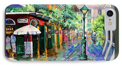 French Quarter Paintings iPhone Cases