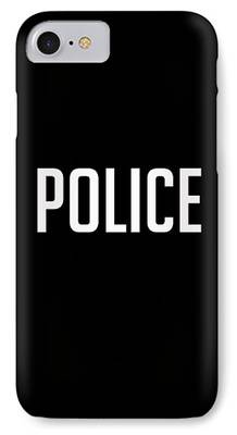 Law Enforcement Drawings iPhone Cases
