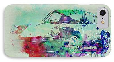 Old Cars Drawings iPhone Cases