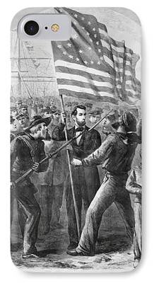 Abraham Lincoln Digital Art iPhone Cases
