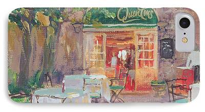 Empty Chairs Paintings iPhone Cases
