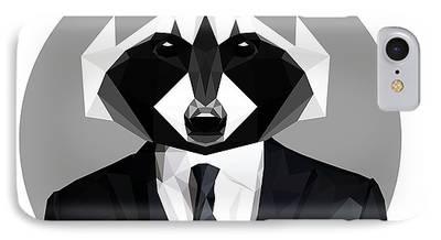 Raccoon Digital Art iPhone Cases