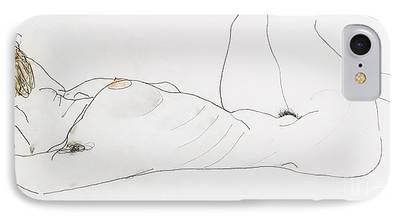 Feminine Drawings iPhone Cases