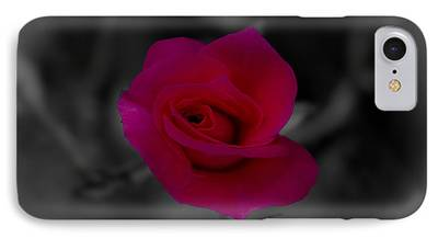 Pinks And Purple Petals Digital Art iPhone Cases