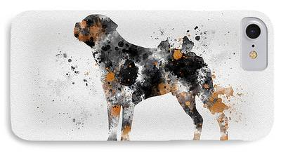 Dogs Mixed Media iPhone Cases
