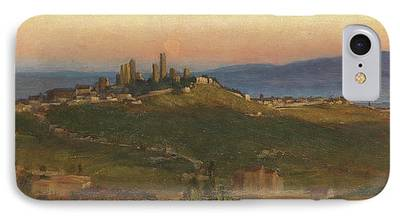 Tuscan Dusk Paintings iPhone Cases