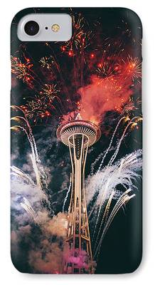 Red Fireworks iPhone Cases