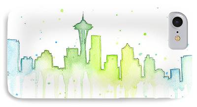 Seattle Skyline iPhone 7 Cases